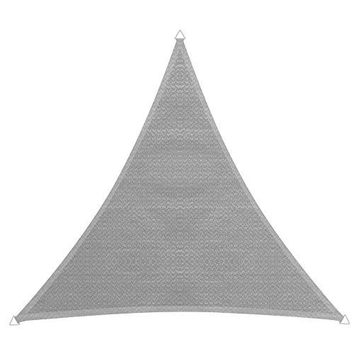 Windhager 10750 Capri Voile d'ombrage Triangulaire 5 x 5 m (cuise) Protection Solaire pour Jardin et terrasse, résistant aux UV et aux intempéries Gris