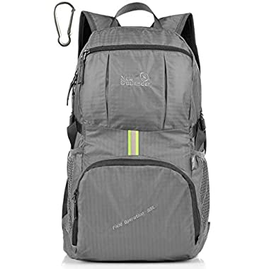 LARGE35L! Outlander Packable Lightweight Travel Hiking Backpack Daypack (New Grey)
