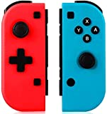 Lampelc Switch Controladores, Bluetooth inalámbrico Gamepad Joystick para Nintendo Switch Consola Mando a distancia, Doble Shock Gyro de 6 ejes como sustitución del controlador Joy Con