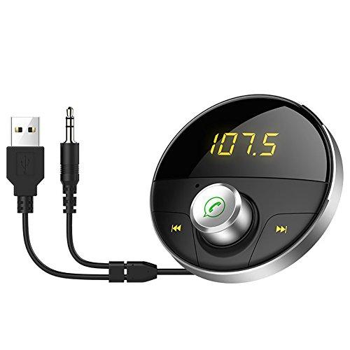 FJW Transmetteur FM Lecteur MP3 De Voiture Bluetooth Kits De Voiture Mains Libres Transmetteur Bluetooth pour Voiture avec Écran LED Mains-Libres