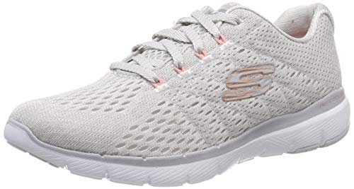 Skechers Women's FLEX APPEAL 3.0-SATELLITES Trainers, Grey (Light Grey Ltgrey), 8 (41 EU)