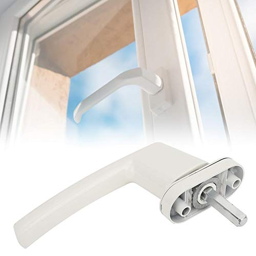 【𝐏𝐫𝐨𝐦𝐨𝐜𝐢ó𝐧 𝐝𝐞 𝐒𝐞𝐦𝐚𝐧𝐚 𝐒𝐚𝐧𝐭𝐚】 Pintura blanca al horno Accesorios de hardware para el hogar Manija de ventana para el hogar, manija de puerta, para puerta de apertura plana Puerta de