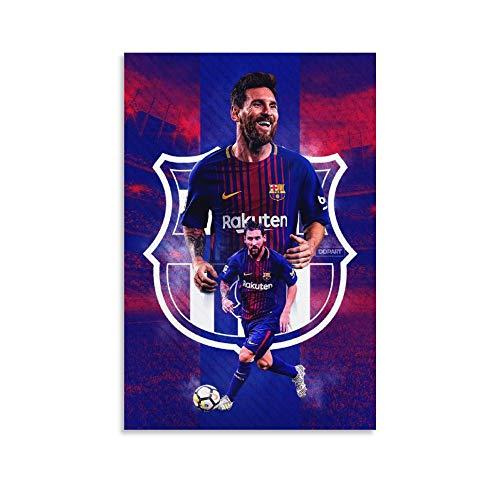 DRAGON VINES Lionel Messi - Lienzo decorativo para pared, diseño de estrella de fútbol, 30 x 45 cm