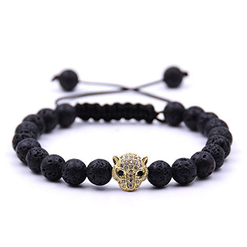 WHFDRHSZ armband armband met 5 kleuren natuursteen energie mannen kralen armbanden voor vrouwen