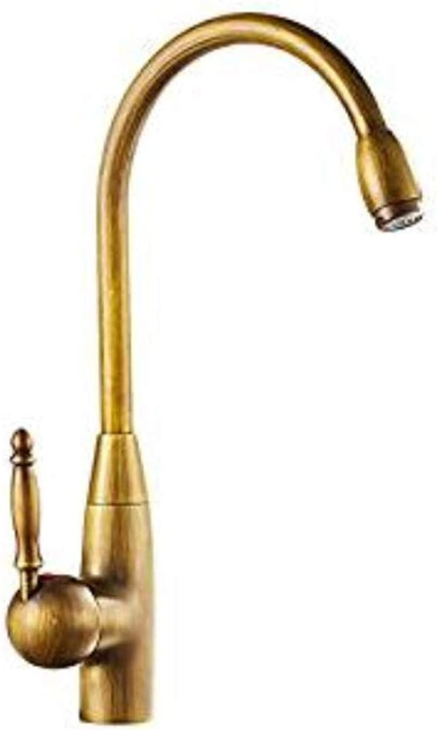 Taps Kitchen Sinkcopper Kitchen Hot and Cold Faucet Antique Retro Faucet Sink Faucet Basin Faucet Can Be redated