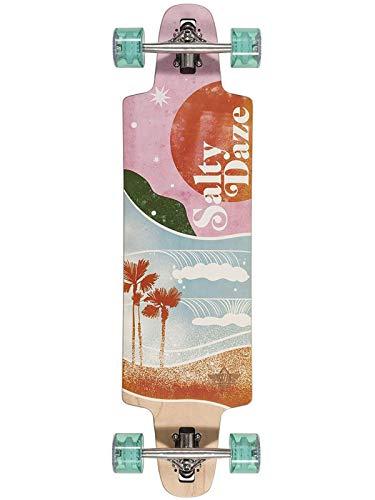Dusters Pink-Green Salty Daze Longboard, 91,4 cm, Pink