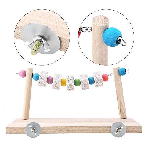 Huisdier houten standaard, tandheelkundige zorg minerale steen mol kauw speelgoed springplank papegaai hamster schommel