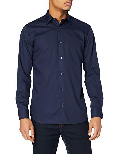 JACK & JONES JPRNON Iron Shirt L/S Noos Camicia Formale, Blu (Navy Blazer Fit:Slim Fit), X-Large Uomo