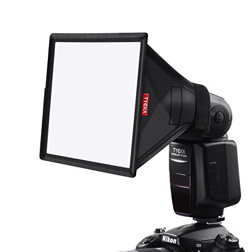 TYCKA 15 x13cm Difusor de Flash Softbox (Universal, Plegable) para Nikon, Canon, Sony, yongnuo y Otros Flashes DSLR