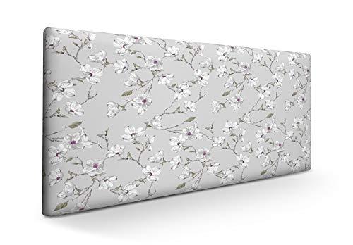 SUENOSZZZ-ESPECIALISTAS DEL DESCANSO Cabecero tapizado para Camas de 120 (130 x 57 cm) en Tela Motivo Estampado Izumi Floral