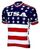 World Jerseys Team USA 1979 Retro Cycling Men's Jersey Red/White/Blue XL
