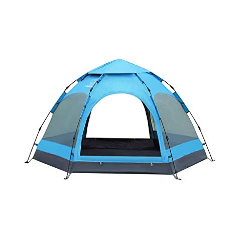 FABAX 6-9 Persoon Zeshoek Mongoolse Yurt Tent Regendicht Anti-UV Ademende Dubbele Laag Camping Tent voor Outdoor Camping