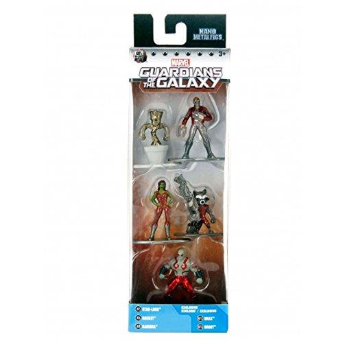 Marvel 5er Pack - Nano Metalfigs 4cm Sammelfigur 98972 detailgetreue Gestaltung, aus hochwertigem Diecast-Metall, kleine Figuren perfekt für jeden Sammler