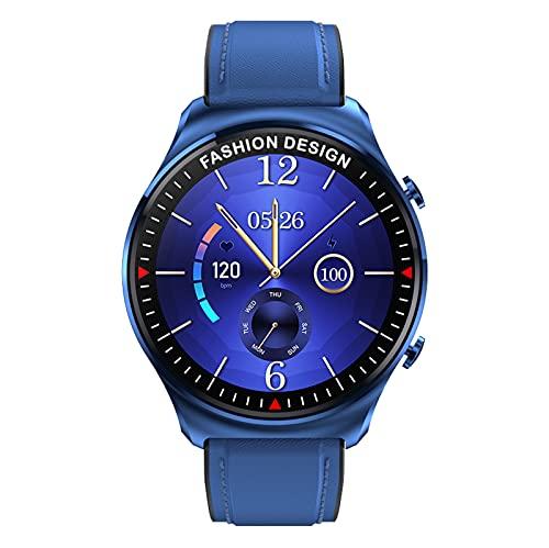 HQPCAHL Reloj Inteligente Hombres Smartwatch IP68 Impermeable Monitor De Actividad Pulsómetro Spo2 Recordatorio De SMS Reloj De Pulsera Portátil para Hombres iOS Android,A