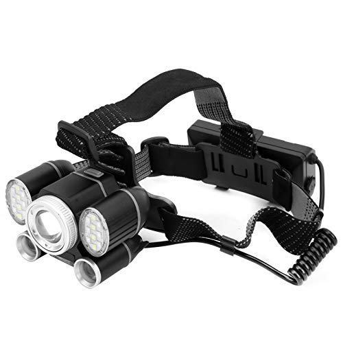 Byged Linterna Frontal LED XHP50 + COB LED Rojo/Azul 6 Luces 1200 lúmenes LED Faro de Trabajo Impermeable con luz con Zoom para Exteriores, Senderismo, Pesca, Paseos nocturnos