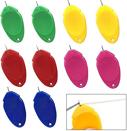손 바느질 플라스틱 와이어 루프에 대 한 바늘 스레 기 자 수 기계에 대 한 DIY 간단한 바늘 스레 기-10 | 20 조각 5 임의 색상. (10)