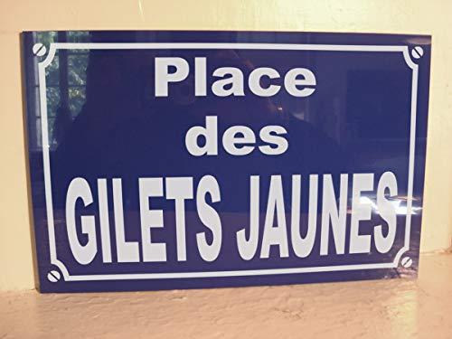 gilet jaune Place des Plaque DE Rue dévo Cadeau Original