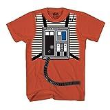 Star Wars Luke Skywalker Rebel Pilot X-Wing Costume Adult T-Shirt (Orange,X-Large)