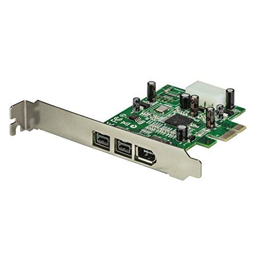 StarTech.com 3 Port 800+400 FireWire PCI Express Schnittstellen Combo Karte, PCIe 3 Port FireWire Card, PCI-e 1 x Firewire 400 1394A 2 x FireWire 800 1394B