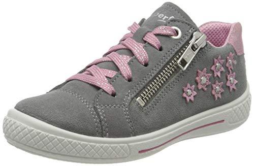 Superfit Mädchen Tensy Niedrig Sneaker, Grau (Hellgrau/Rosa 25), 33 EU