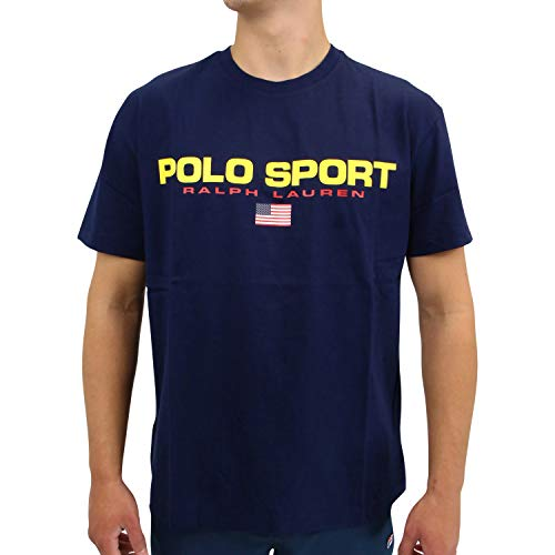 Ralph Lauren Herren Classic Fit T-Shirt Dunkelblau S