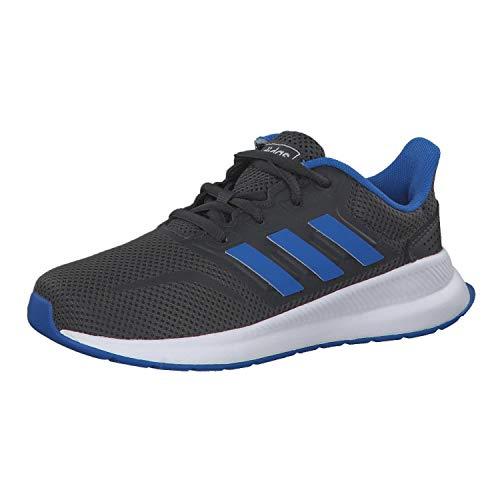 adidas Kinder Laufschuhe Runfalcon K Grey six/True Blue/Grey six 30 1/2
