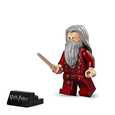 LEGO 2018 Harry Potter Minifigure - Albus Dumbledore (with Black Wand and Stand) 75954