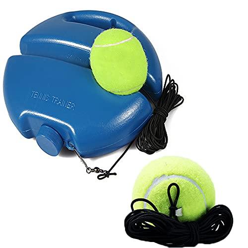 Haihaz,Tennis Trainer Set,Individual Equipo de práctica de Tenis, Entrenador de Tenis,Set Trainer Baseboard con 2 Bolas de Rebote, para autoaprendizaje para Entrenamiento en Solitario Adultos Niños