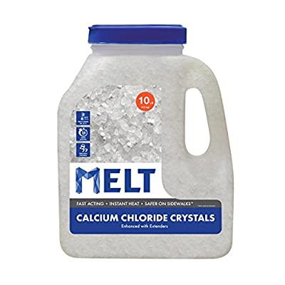 Snow Joe MELT10CC-J Melt Calcium Chloride Crystals Ice Melter Jug, 10-Pound