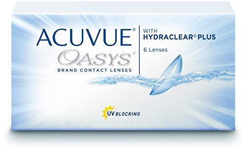 ACUVUE OASYS for Astigmatism Kontaktlinsen – 2-Wochen-Linsen für Tag und Nacht mit -3 dpt, Cyl -0,75, Ach 180 & BC 8.6 – UV Schutz, Austrocknungsschutz & hoher Tragekomfort – 6 Linsen
