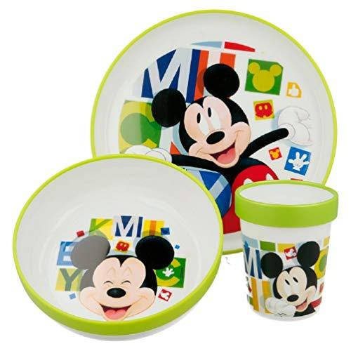 Mickey Mouse Mikrowellen-Geschirr Set 3 tlg. BPA-Frei
