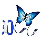 Keenso Hermosa Cometa con Forma de Mariposa, Cometa con Forma de Mariposa Azul Cometas voladoras al Aire Libre Niños Niños Diversión Juguete Deportes incluidos Cometa de Doble línea