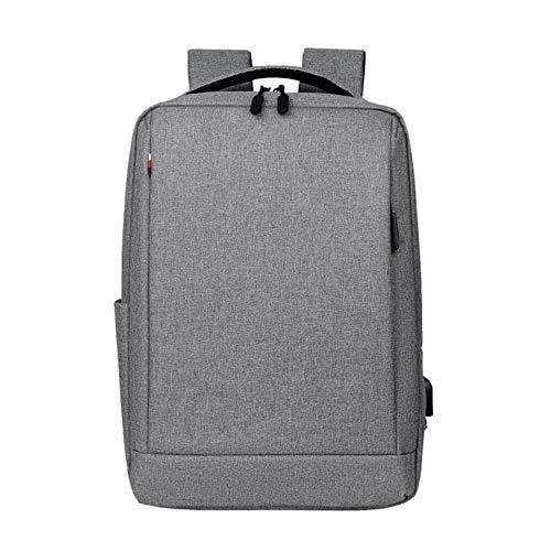Anti-diefstal Oxford heren 14 inch laptoprugzakken Schoolmode Reizen mannelijke rugzakken Dames Casual dames Schooltas USB opladen, grijs