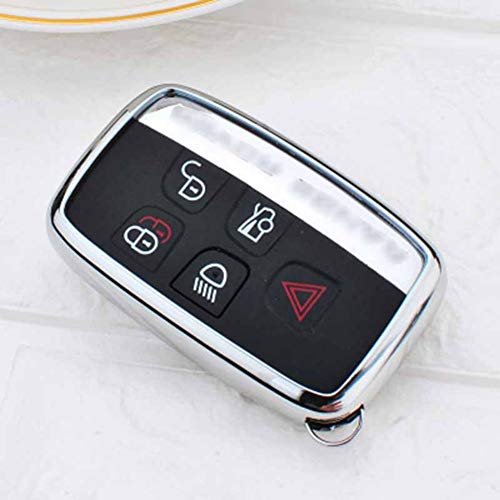 XQRYUB TPU Auto Schlüsselhülle Abdeckung, Für Land Rover A9 Range Rover Sport Evoque Freelander 2 Jaguar XE XJ XJL XF C-X16 V12 Gitarre FX Typ