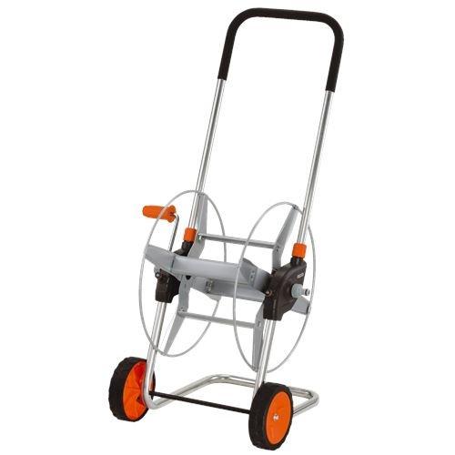 GARDENA Metall-Schlauchwagen 60: Mobile Schlauchtrommel mit bis zu 60 m Schlauchkapazität bei 13mm Schlauch, höhenverstellbarer Griff mit Handschutz, Nachtropfstop, freilaufende Handkurbel (2681-20)