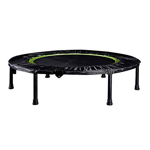 Trampoline Volwassenen/Kids Indoor 40' Inch Portable en opvouwbaar Fitness Trampoline met PP Jump Doek, Ondersteunt 150kg trampoline,clmaths