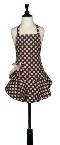 【正規品】ジェシー スティール(Jessie Steele) エプロン【キッズ用】 Brown Pink Polka Dot