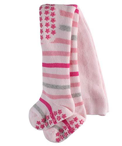 FALKE Baby Strumpfhosen Multi Stripe, 84% Baumwolle, Vollplüsch-Strumpfhose aus besonders hautfreundlicher und pflegeleichter Baumwolle, 1 Stück, Rosa (Powder Rose 8902), Größe: 80-92