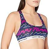 Tommy Hilfiger Bralette Tommy Print Sujetador, Sodalita Azul, S para Mujer