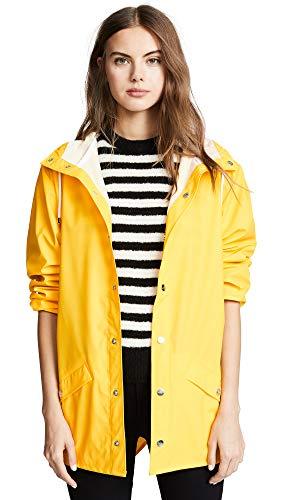 Rains Jacket, Impermeable para Hombre,, color amarillo, talla Small