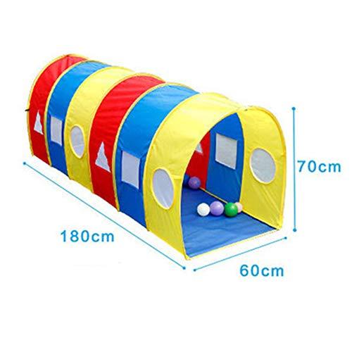 Lzww Pop Up Play Tents Crawling Tunnel Tube Túnel Infantil de Tienda de Acampada para Niños Indoor Baby Toddler,C