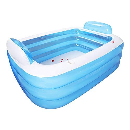 Planschbecken, aufblasbare Doppelbadewanne 3 Schichten PVC-verdicktes Schwimmbad, Planschbecken