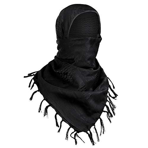 FREE SOLDIER Halstuch/Kopftuch Shemagh,100% Baumwolle Palituch Taktischer Schal Arabischer Wüsten Schals Unisex dreieckstuch,110 * 110cm,Tarnung Schwarz