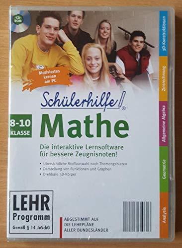 Schülerhilfe! ~ Mathe ~ Klasse 8.- 10. ~ Die interaktive Lernsoftware für bessere Zeugnisnoten! ~ Abgestimmt auf die Lehrpläne aller Bundesländer