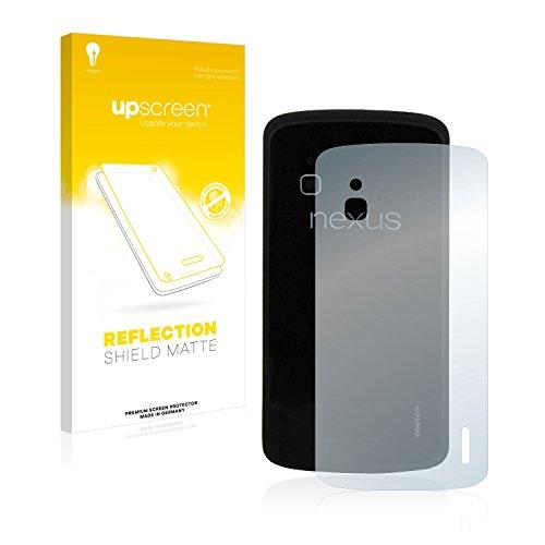 upscreen Entspiegelungs-Schutzfolie kompatibel mit Google Nexus 4 (Rückseite) – Anti-Reflex Bildschirmschutz-Folie Matt