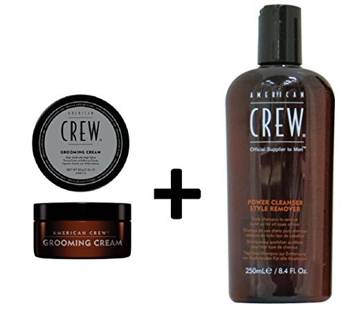 American Crew Power Cleanser Style Remover Shampoo 250ml and Grooming Cream 85g
