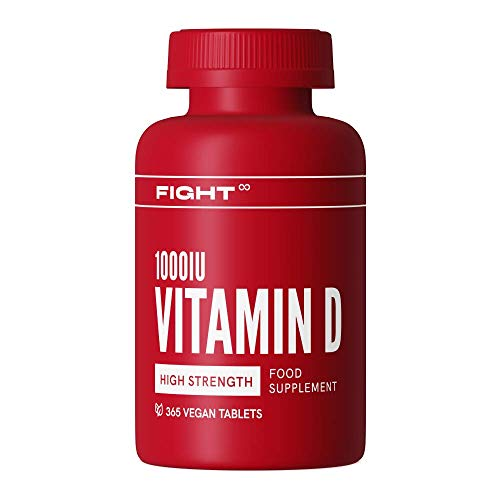 Vitamin D 1000iu | High Strength Micro Tablets by FIGHT | 1 Year Supply | Vegan and Gluten Free