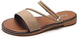 Donyyyy Verano sandalias de damas bajo el talón de una zapatilla fresca