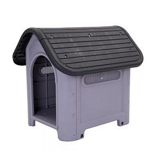 Bonito–Plástico–Polly de caseta de perro adecuado tanto para interiores y exteriores–perfecto para perros con alergias