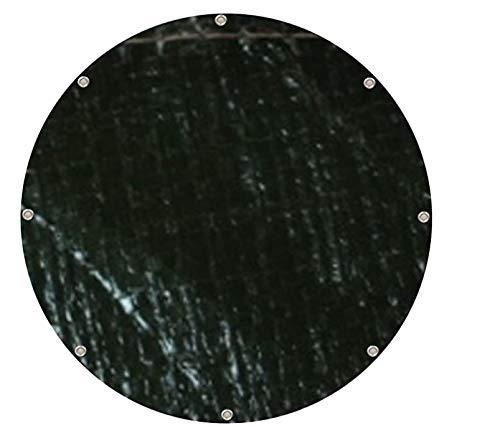 Zill PE Abdeckplane rund 140 g/m² Durchmesser 3 m grün Wasserdichte Gewebe-plane Abdeckung Regenschutz, Ø 3 m 140 g/m²